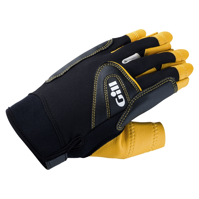 7442_Pro Gloves_Short Finger_Black_1