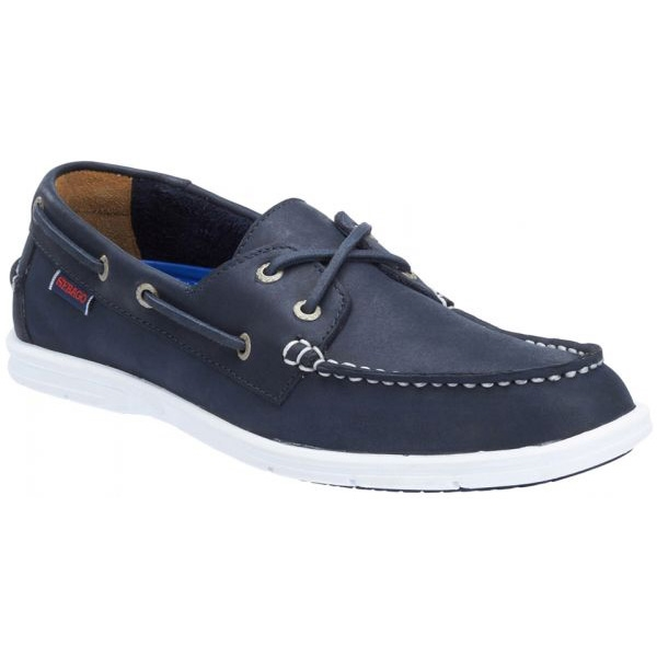 SEBAGO LITESIDES NAVY LEATHER